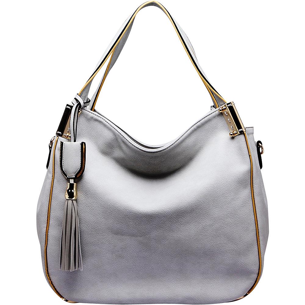 MKF Collection Heather Hobo Bag Grey - MKF Collection Manmade Handbags - Handbags, Manmade Handbags