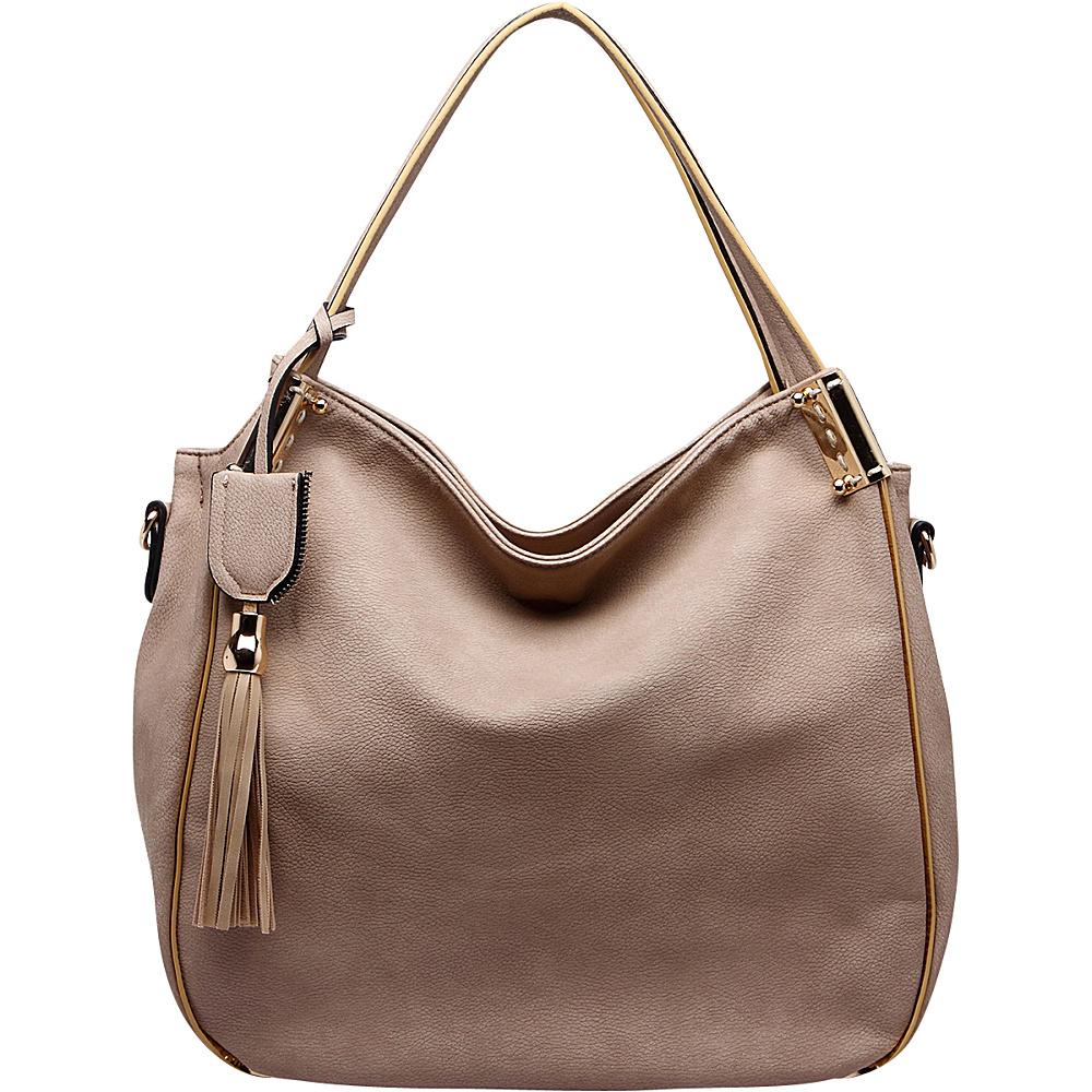 MKF Collection Heather Hobo Bag Mud - MKF Collection Manmade Handbags - Handbags, Manmade Handbags