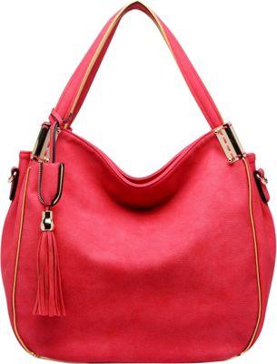 MKF Collection by Mia K. Farrow Heather Hobo Bag Red - MKF Collection by Mia K. Farrow Manmade Handbags