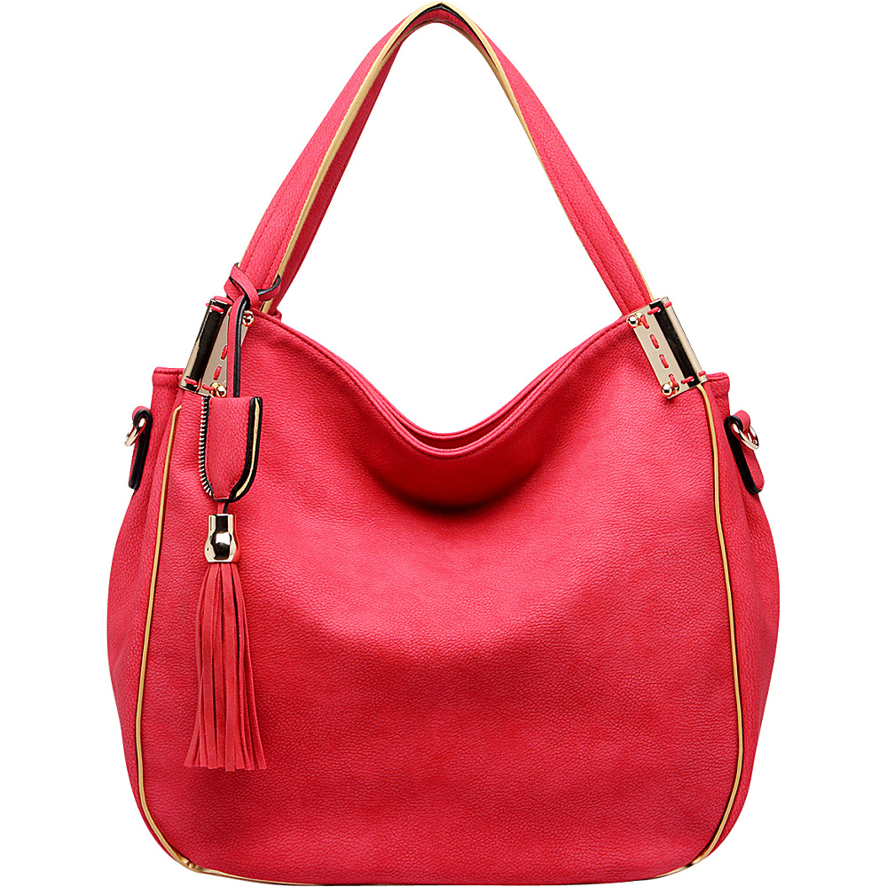 MKF Collection by Mia K. Farrow Heather Hobo Bag Red - MKF Collection by Mia K. Farrow Manmade Handbags - Handbags, Manmade Handbags
