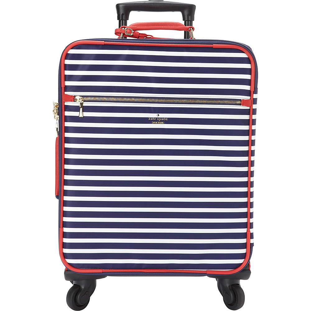kate spade new york Classic Nylon International Carry On Sapphire Cream kate spade new york Softside Carry On