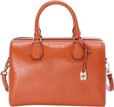 MICHAEL Michael Kors Mercer Medium Duffle Orange - MICHAEL Michael Kors Designer Handbags
