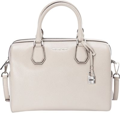 MICHAEL Michael Kors Mercer Medium Duffle Cement - MICHAEL Michael Kors Designer Handbags