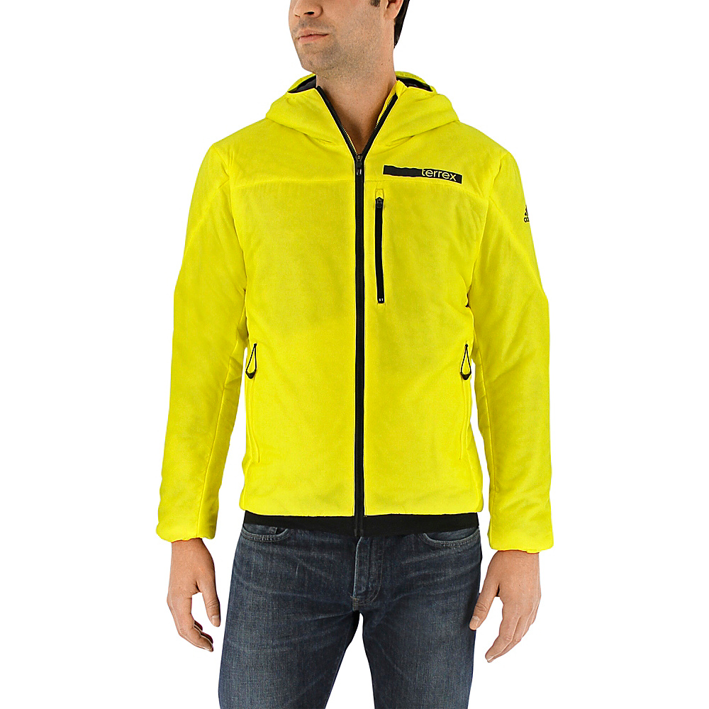 adidas apparel Mens Terrex Ndosphere Flex Hooded Jacket II XL Bright Yellow adidas apparel Men s Apparel