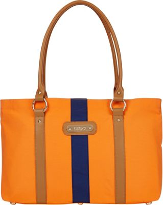 Davey's Large Stripe Tote Orange/Navy Stripe - Davey's Fabric Handbags
