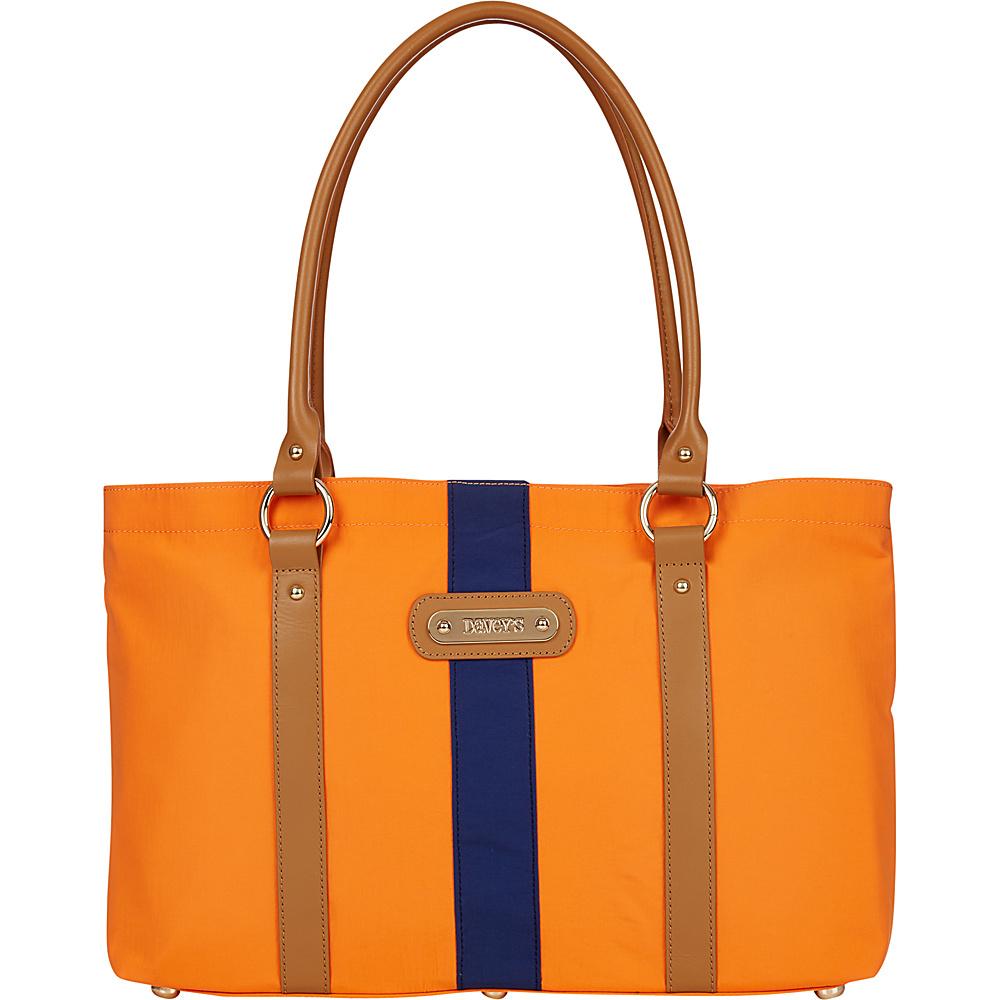 Davey s Large Stripe Tote Orange Navy Stripe Davey s Fabric Handbags