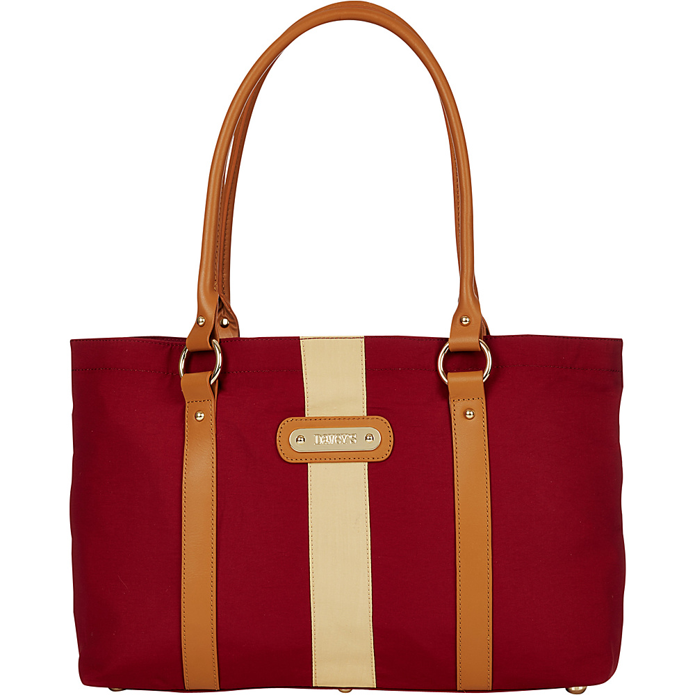 Davey s Large Stripe Tote Crimson Gold Stripe Davey s Fabric Handbags