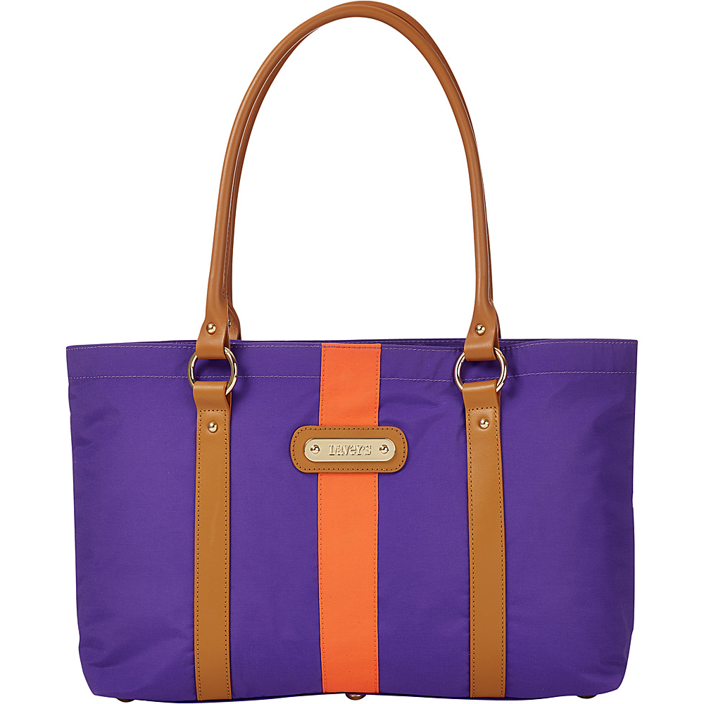Davey s Large Stripe Tote Purple Orange Stripe Davey s Fabric Handbags
