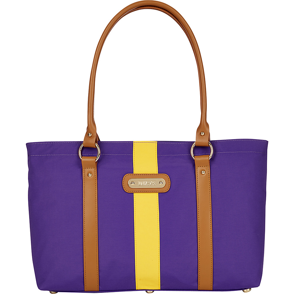 Davey s Large Stripe Tote Purple Gold Stripe Davey s Fabric Handbags
