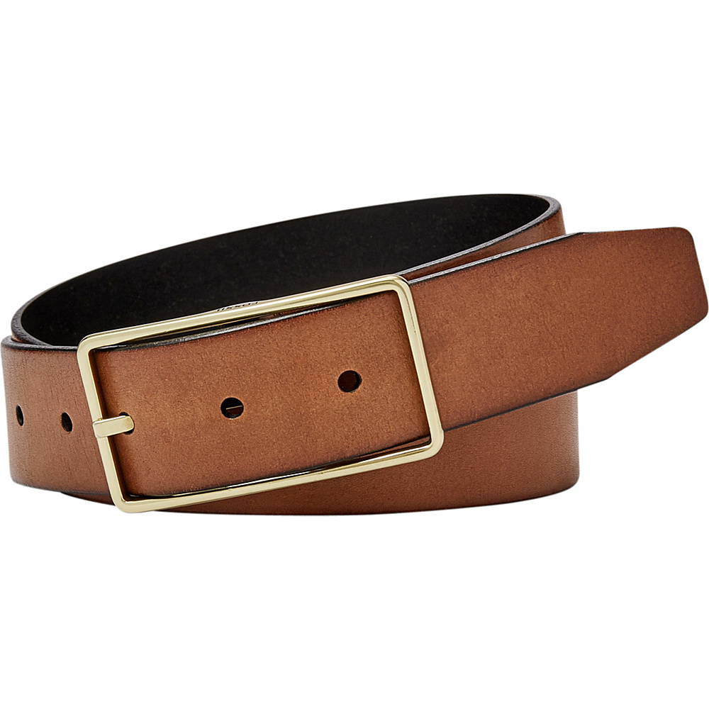 Fossil Reversible Square Keeper Belt XL - Brown - Fossil Other Fashion Accessories - Fashion Accessories, Other Fashion Accessories