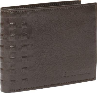 Ben Sherman Luggage Holland Park Leather RFID Passcase Wallet Brown - Ben Sherman Luggage Men's Wallets