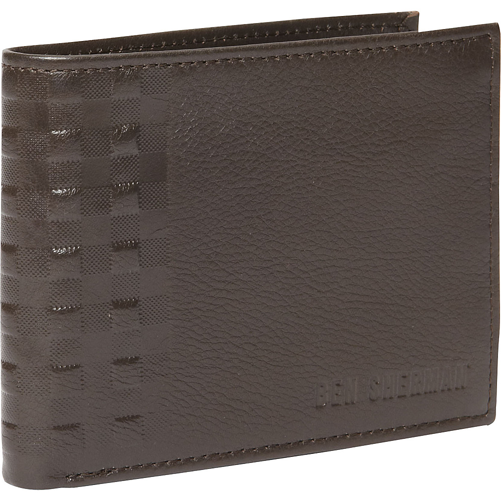 Ben Sherman Luggage Holland Park Leather RFID Passcase Wallet Brown Ben Sherman Luggage Men s Wallets
