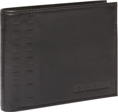 Ben Sherman Luggage Holland Park Leather RFID Passcase Wallet Black - Ben Sherman Luggage Men's Wallets