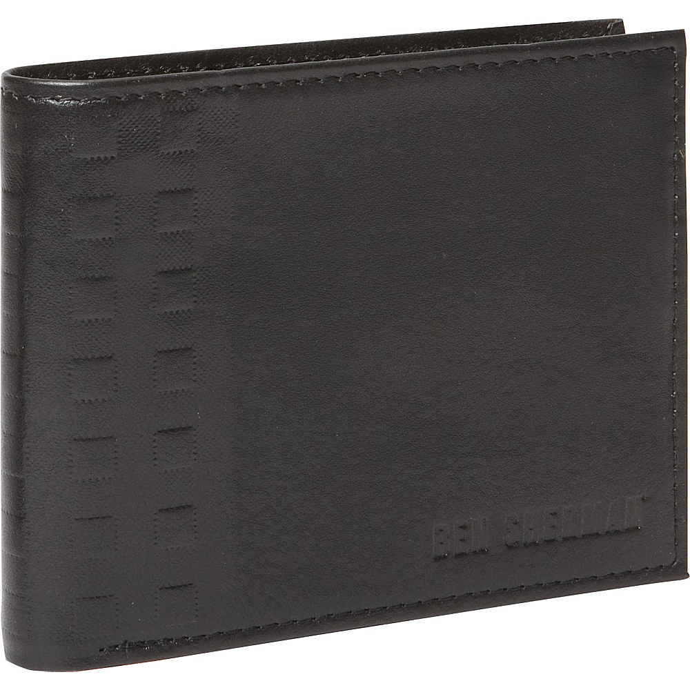Ben Sherman Luggage Holland Park Leather RFID Passcase Wallet Black Ben Sherman Luggage Men s Wallets