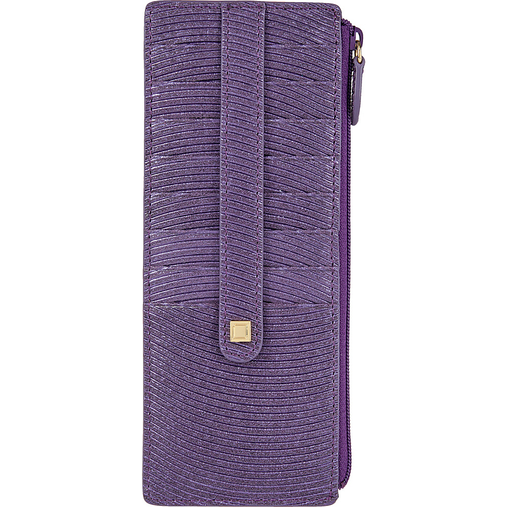 Lodis Vanessa Variety Credit Card Case with Zipper Pocket Purple - Lodis Womens Wallets - Women's SLG, Women's Wallets