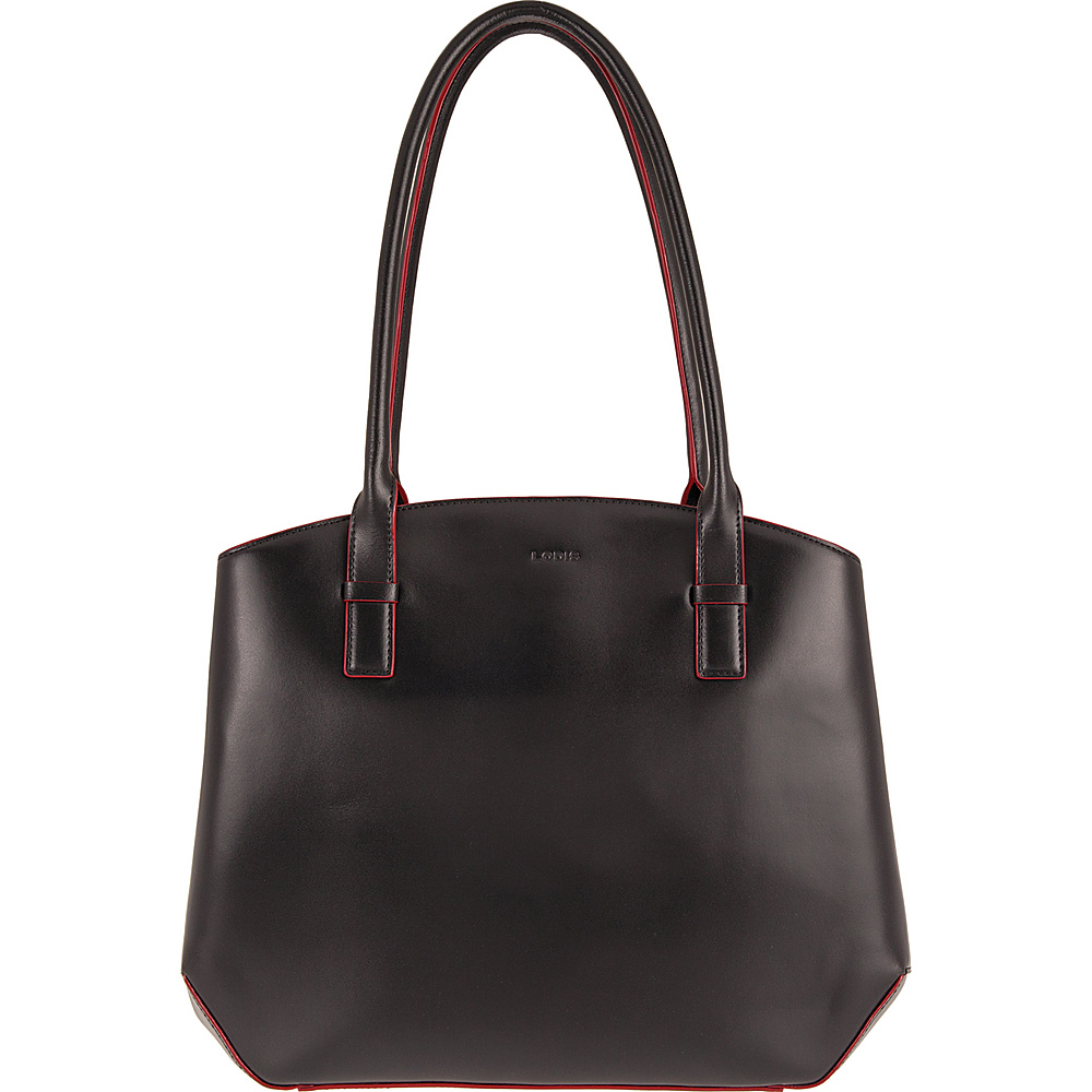 Lodis Audrey Patty Brief Black/ Red - Lodis Leather Handbags - Handbags, Leather Handbags