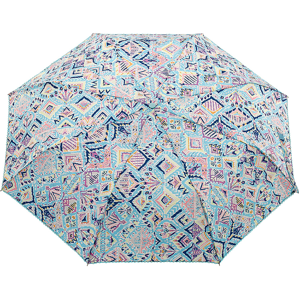 Sakroots Artist Circle Boxed Umbrella Turq Brave Beauti - Sakroots Umbrellas and Rain Gear - Travel Accessories, Umbrellas and Rain Gear