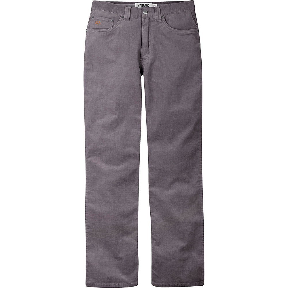 Mountain Khakis Canyon Cord Pant Classic Fit 38 - 34in - Ash - Mountain Khakis Mens Apparel - Apparel & Footwear, Men's Apparel