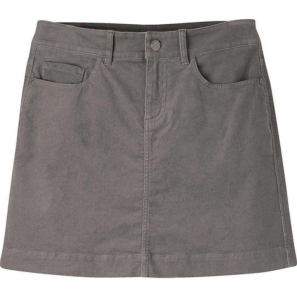 Mountain Khakis Canyon Cord Skirt 10 - Lunar - Mountain Khakis Womens Apparel - Apparel & Footwear, Women's Apparel