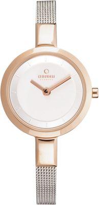 Obaku Watches Womens Stainless Steel Mesh Watch Silver/Rose Gold - Obaku Watches Watches