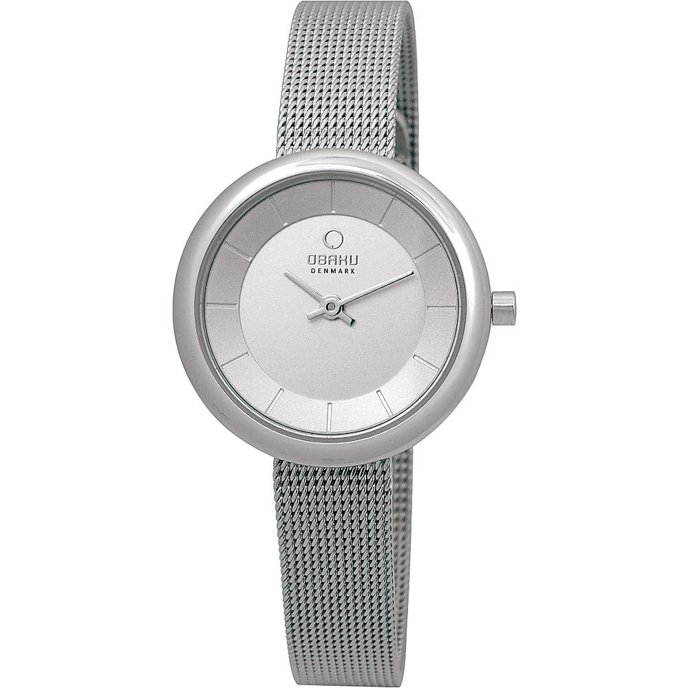 Obaku Watches Womens Stainless Steel Mesh Watch Silver Silver Obaku Watches Watches