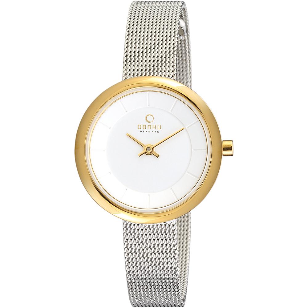 Obaku Watches Womens Stainless Steel Mesh Watch Silver Gold Obaku Watches Watches