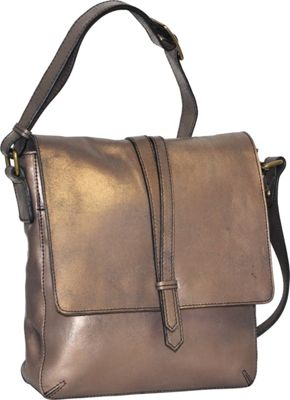 Nino Bossi Crackle Crossbody Bronze - Nino Bossi Leather Handbags