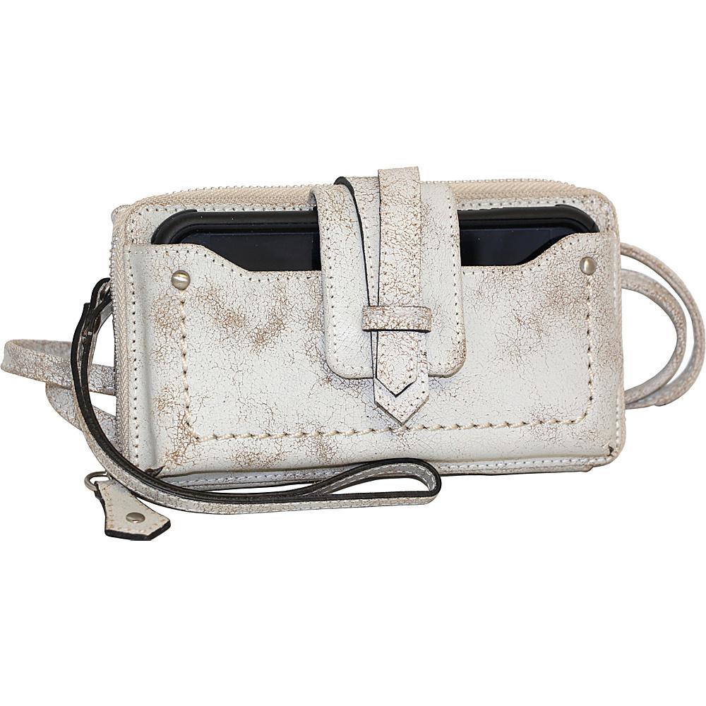 Nino Bossi Crackle Phone Holder Winter White - Nino Bossi Designer Handbags - Handbags, Designer Handbags