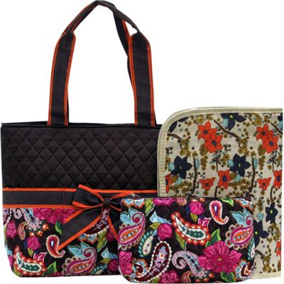 Rosenblue Annabelle 3 Piece Diaper Bag Set Multi/Brown - Rosenblue Diaper Bags & Accessories