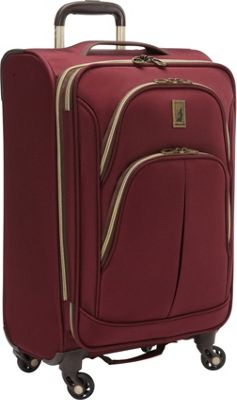 London Fog Coventry Hyperlights 21 inch Expandable Spinner Plum - London Fog Softside Carry-On
