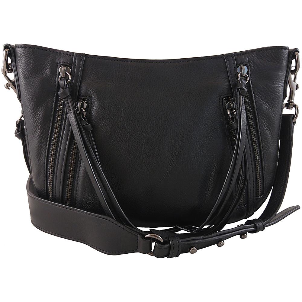 Joelle Hawkens by treesje Dayna Small Crescent Black Joelle Hawkens by treesje Designer Handbags