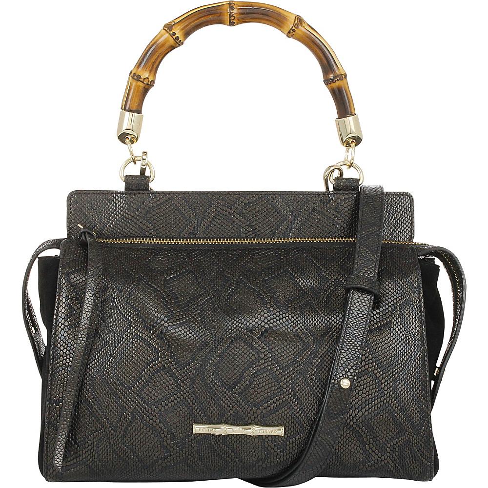Elaine Turner Olive Python Satchel Twilight Boa Elaine Turner Designer Handbags