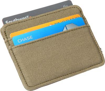 1Voice The SNK RFID Blocking Canvas Card Holder Olive - 1Voice Men's Wallets