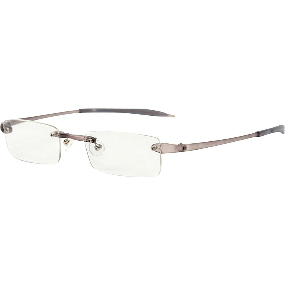 Visualites Rectangle Reading Glasses 1.25 Smoke Visualites Sunglasses