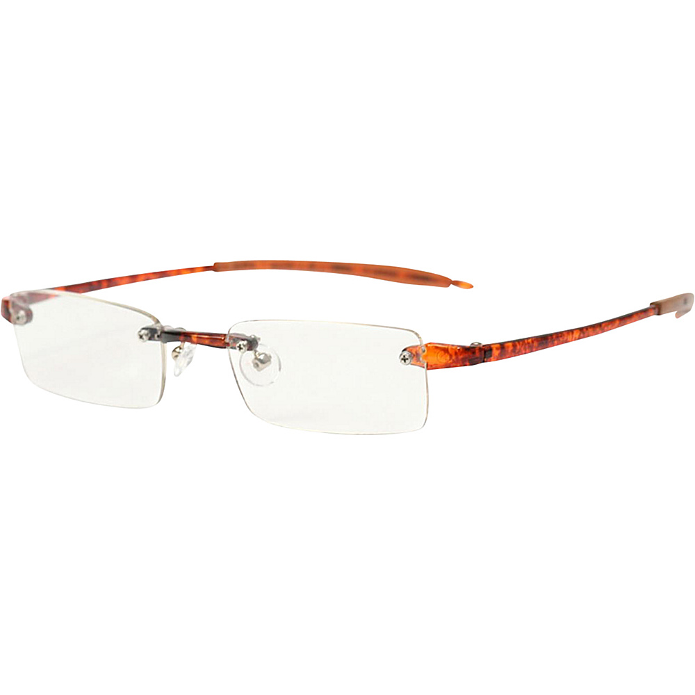 Visualites Rectangle Reading Glasses 2.50 Tortoise Visualites Sunglasses