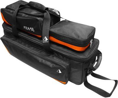 Pyramid Path Triple Tote Roller Plus Bowling Bag Orange - Pyramid Bowling Bags