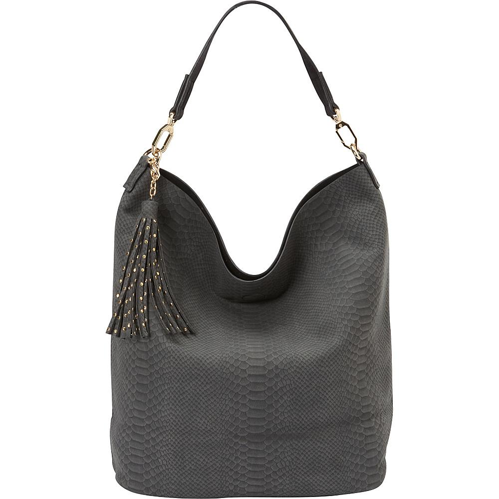 deux lux Juniper Hobo Charcoal deux lux Manmade Handbags