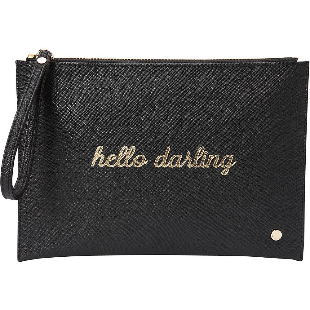 deux lux Bisou Pouch Black deux lux Manmade Handbags