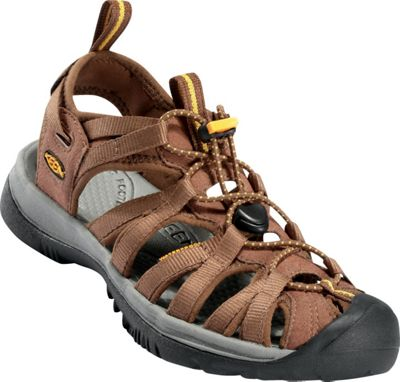 KEEN Womens Whisper Sandal 11 - Coffee Liqueur/Keen Yellow - KEEN Women's Footwear