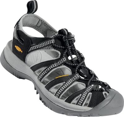 KEEN Womens Whisper Sandal 7.5 - Black/Neutral Gray - KEEN Women's Footwear