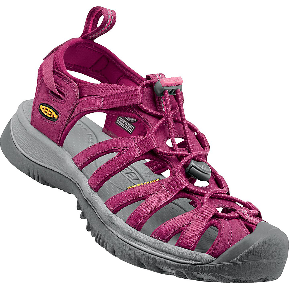 KEEN Womens Whisper Sandal 7 - Beet Red/Honeysuckle - KEEN Womens Footwear - Apparel & Footwear, Women's Footwear
