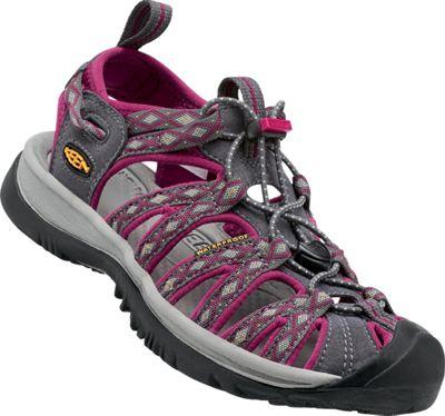 KEEN Womens Whisper Sandal 10 - Magnet/Sangria - KEEN Women's Footwear