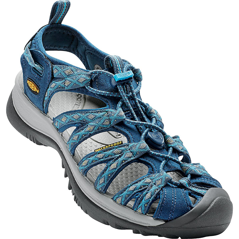 KEEN Womens Whisper Sandal 5.5 - Poseidon/Blue Danube - KEEN Womens Footwear - Apparel & Footwear, Women's Footwear