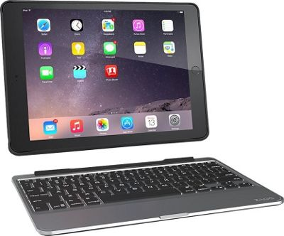 Zagg Ultrathin Slim Book Hinged Backlit Keyboard Case, iPad Air 2 Black - Zagg Electronic Cases