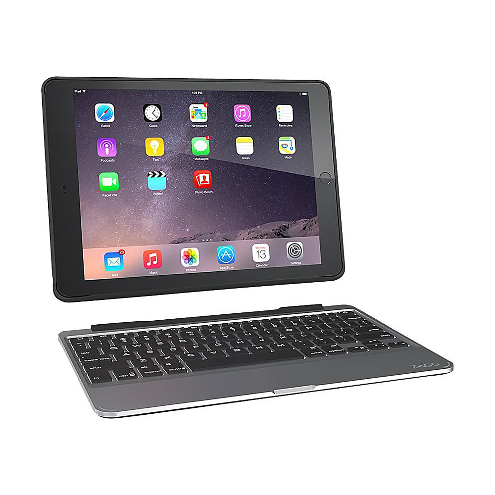 Zagg Ultrathin Slim Book Hinged Backlit Keyboard Case iPad Air 2 Black Zagg Electronic Cases
