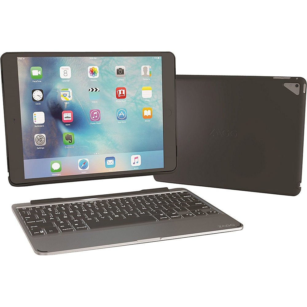 Zagg Ultrathin Slim Book Hinged Backlit Keyboard for iPad Pro 9.7 Black Zagg Electronic Cases