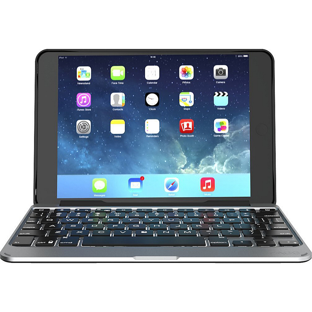 Zagg Ultrathin Slim Book Hinged Keyboard Case for iPad Mini 4 Black Zagg Electronic Cases
