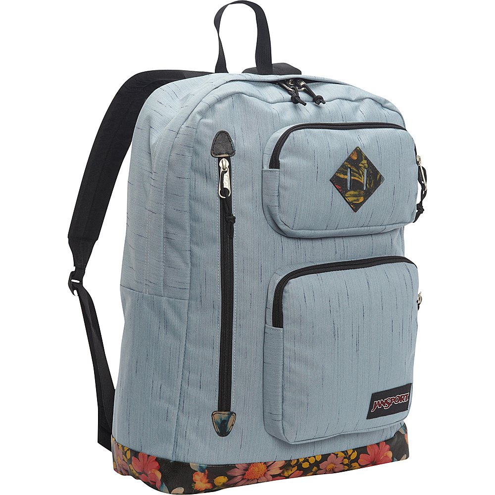 JanSport Houston Laptop Backpack- Discontinued Colors Multi Garden Delight - JanSport Laptop Backpacks - Backpacks, Laptop Backpacks