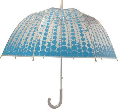 London Fog Umbrellas Bubble Auto Stick Umbrella Dot - London Fog Umbrellas Umbrellas and Rain Gear