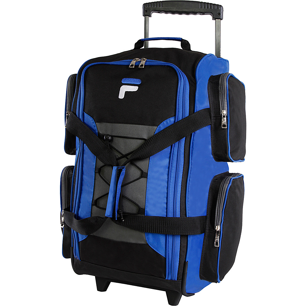 Fila 22 Lightweight Carry On Rolling Duffel Bag Blue Fila Rolling Duffels